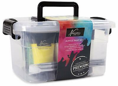 Nassau Professional Fine Art Artist Acrylic Assorted Colours Paint Box Set 700/U