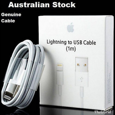 2X Original Genuine 1M Apple Lightning Data Cable Charger iPhone 5S 6 7 8 X iPad