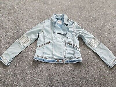 Next Girls Pale Blue Denim Jacket Age 11 Years Great For Spring