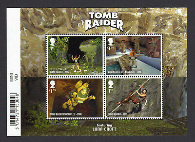 2020 VIDEO GAMES TOMB RAIDER Mini Sheet Mint - WITH BARCODE MARGIN MS4320