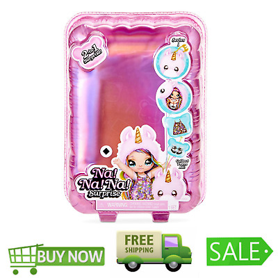 Na! Na! Na! Surprise 2-in-1 Fashion Doll & Plush Pom with Confetti Balloon Unbox