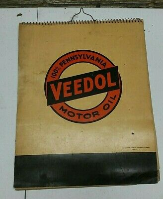 Veedol Lubrication Guide Manual ©1940 - gas service station Motor Oil