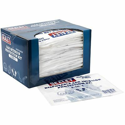 Sealey 5 in 1 Disposable Car Interior Protection Kit 50 Sets Seat Cover CCSET550
