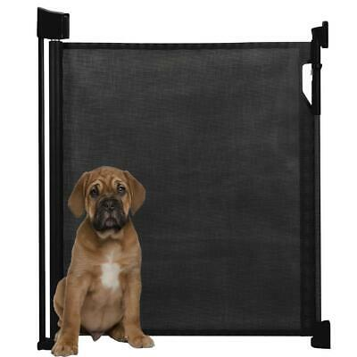Bettacare Advanced Retractable Puppy Pet Gate Premium Folding Dog Barrier Black