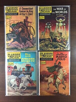 Classics Illustrated Lot (4) - Nos. 24, 124, 159, 27 - A Connecticut Yankee …