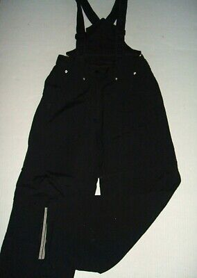 Obermeyer Ski Snow Board Pants Women's 8 Black Winter Insulated Zip Off Back Bib