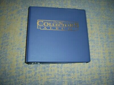 4 Blue Ultra Pro Trading Card Ring Binders For Pocket Pages In Used Condition
