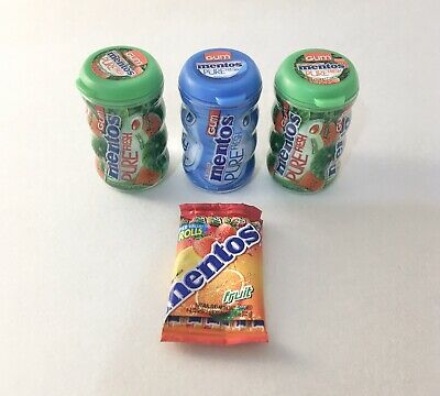 Lot of 3 Mentos Gum - Zuru 5 Surprise Mini Brands Miniatures - New!