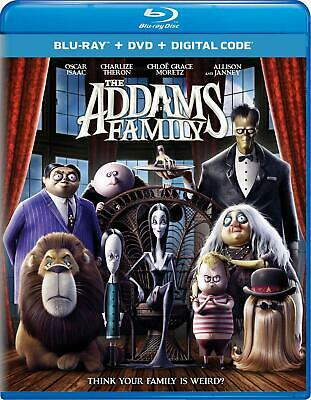 The Addams Family BLU-RAY/DVD with SLIPCOVER 2020 Animated Movie