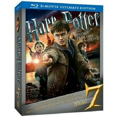 Harry Potter and the Deathly Hallows Blu-Ray 2- Movie Ultimate Edition - New