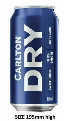 Carlton Dry Beer Can  Stickers  Camping Trailer Bar Fridge