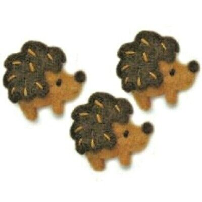 HEDGEHOGS Embellishments Needle Felting Completed Appliques Dimensions