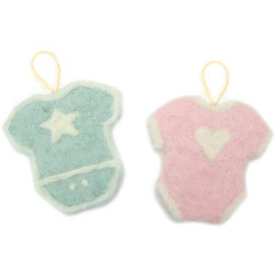 BABY Felted Character Needle Felting Kit Dimensions Blue & Pink for Boy or Girl
