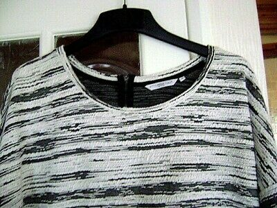 Ladies Black & White, Long Sleeved Top, Size 18 ( 46 ) by New Look....