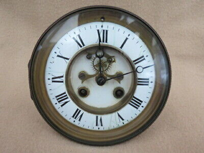 Antique French Visible Escapement Clock Movement For Spares Or Repair