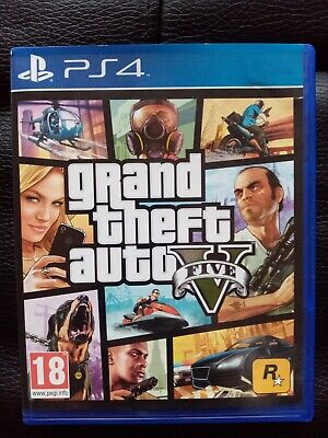Grand Theft Auto V GTA5 - PS4 PlayStation 4 Game with Map