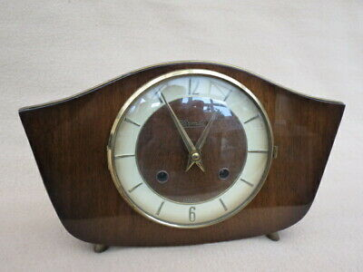 VINTAGE RETRO 1960s/70s HERMLE TING TANG 8 DAY MANTEL CLOCK