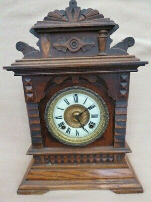 Antique Ansonia Syria Working Mantel Clock For Spares Or Repair