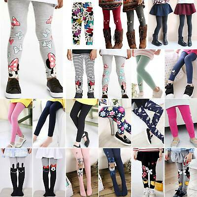 Girl Thick Thermal Stripped Leggings Skinny Pants Trouser Long Sock Winter Warm