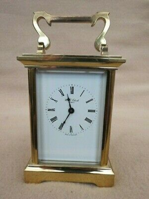 Vintage W E Clark Lewes 8 Day Brass Carriage Clock