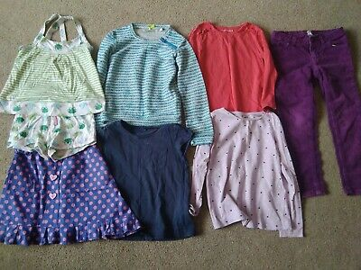 Bundle Of Girls Clothes Age 4-5 Years (8 items) Trousers, Skirt, Pyjamas,...
