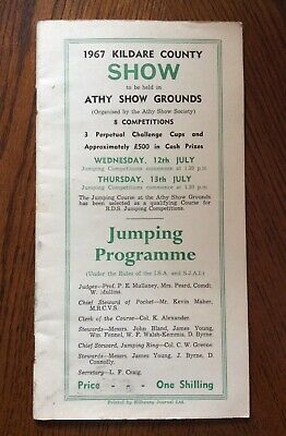 1967 Kildare County Show Ponies / Equine Jumping Programme Challenge Cups Athy