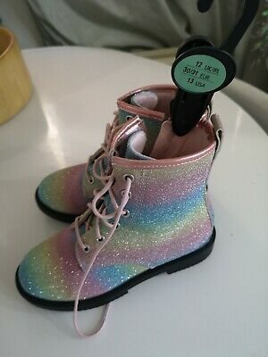 SOLD OUT Primark Rainbow Dr Marten Style Boots 12