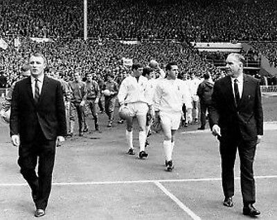 Tottenham v Chelsea FA Cup 1967 Nicholson and Docherty 10x8 Photo