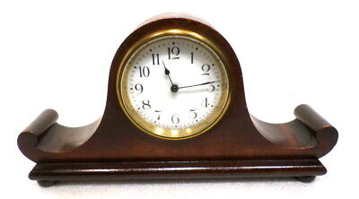 Nice American Mantle Clock By New Haven With Porcelain Dial Circa 1920