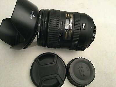 Nikon NIKKOR 16-85mm f/3.5-5.6 DX AF-S VR Lens with hood and UV filter