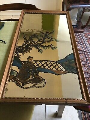 Unusual  Antique 18th/19thc Hand Painted Geprgian Chinoiserie Mirror