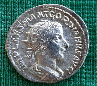 GORDIAN III AD 238 Authentic Ancient Silver Roman Coin 22mm