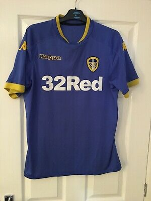 Leeds United England 2016/2017 Away Football Shirt Jersey Kappa Medium Rare