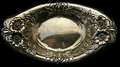 Antique Circa 1900 Whiting Sterling Silver Rose bowl 7066