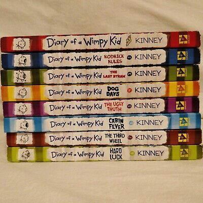 8 books Diary of a Wimpy Kid book set collection Jeff Kinney Paperback 1-8 LOT