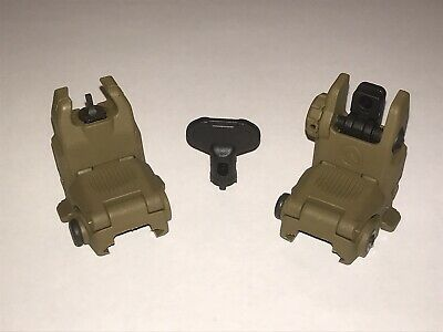 Magpul back up sights Gen 2. Set Of Front And Rear. Coyote Brown.