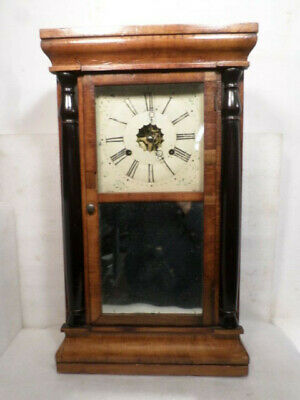 Early Seth Thomas Pre 1866 Striking Column OG Weight Driven Shelf Clock