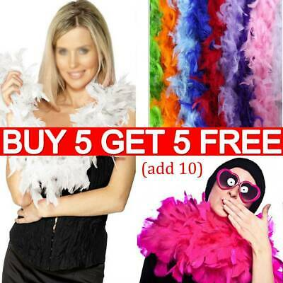 2M Feather Boa Strip Fluffy Craft Costume Dressup Wedding Party Flower Decor RO