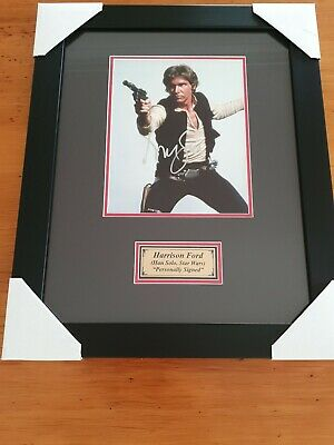 """Harrison Ford as Hans Solo in Star Wars personally signed 10"""" x 8"""" photo framed"""