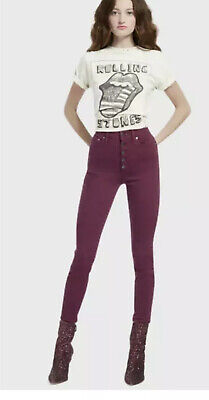 NEW AO.LA BY Alice + Olivia Currant Good High Rise Skinny Jeans $265