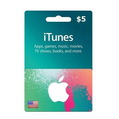 Itunes Gift Card 5 USD / American USA