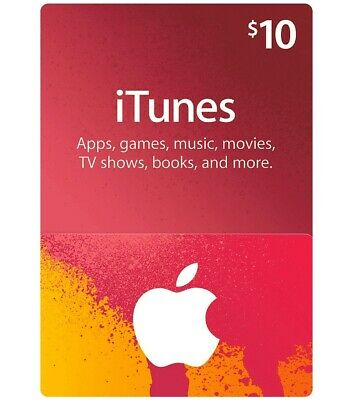 Itunes Gift Card 10 USD / American USA