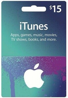 Itunes Gift Card 15 USD / American USA