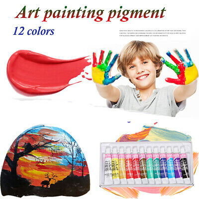 Artist Oil Painting Acrylic Watercolor paints Set Draw Pigment with Brush