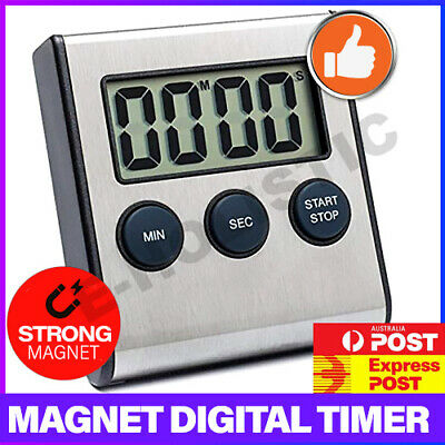 Stainless Steel Magnetic Kitchen LCD Digital Timer Countdown Cook Electronic Egg