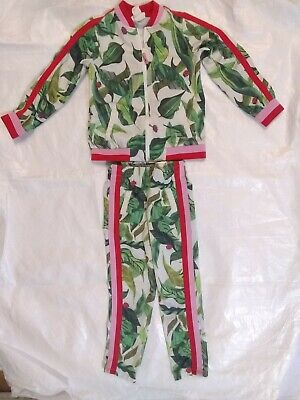 MICHELLE MORIN for H&M girls two-piece set (leaf/ladybug)size 5-6 100%polyester.