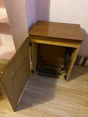 SINGER sewing Machine Table Cabinet- Cast Iron Pedal