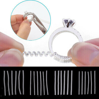 6Pc Ring Size Reducers For Loose Rings Jewelry Guard Sizer RESIZER ADJUSTERS