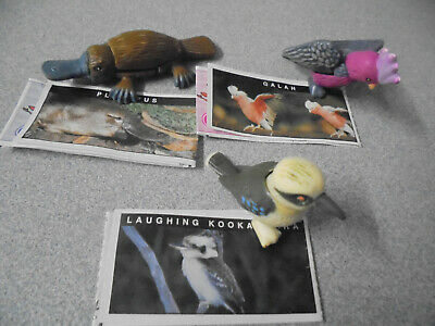 Cadbury Yowies Galah, Laughing Kookaburra, Platypus & Papers