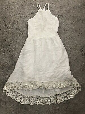 Abercrombie Girls White Summer Dress Size 9-10Yrs